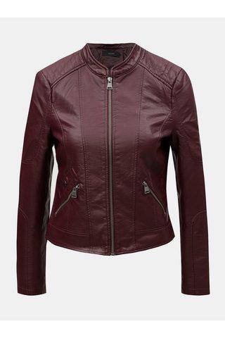Jacheta bordo din piele sintetica VERO MODA Europe
