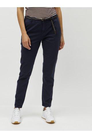 Pantaloni albastru inchis chino cu cordon VERO MODA Flame