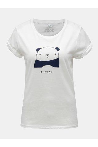 Tricou de dama alb cu motiv panda ZOOT Original Panda