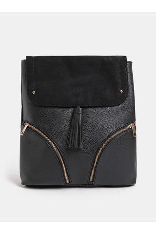 Černý koženkový batoh Dorothy Perkins