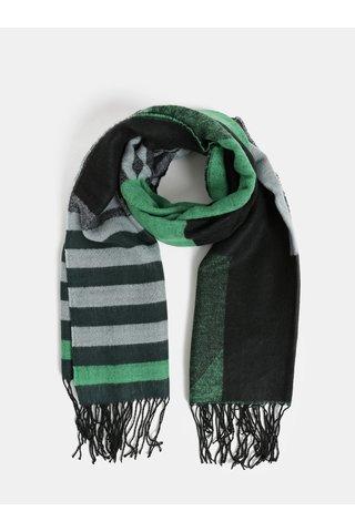 Fular gri-verde cu model ONLY