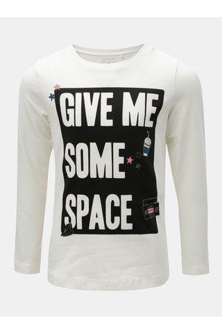Bílé holčičí tričko s potiskem Name it Rayan