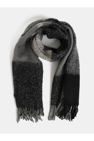 Fular gri-negru Pieces Kuma