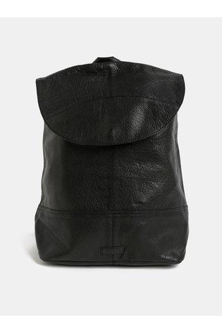 Černý kožený batoh Pieces Tyra