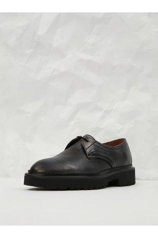 Pantofi negri din piele cu irizatii metalice Frau Tahiti
