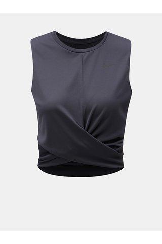 Tricou de dama gri functional crop Nike