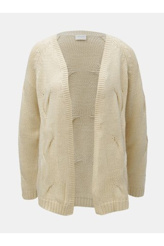 Cardigan crem cu amestec de lana VILA Cabla