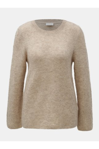 Béžový svetr s příměsí mohéru a vlny VILA Tura