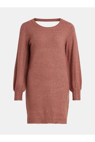 Růžový svetr s průstřihem na zádech VILA