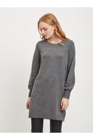Šedý svetr s průstřihem na zádech VILA