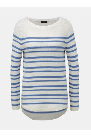 Pulover albastru-alb in dungi M&Co