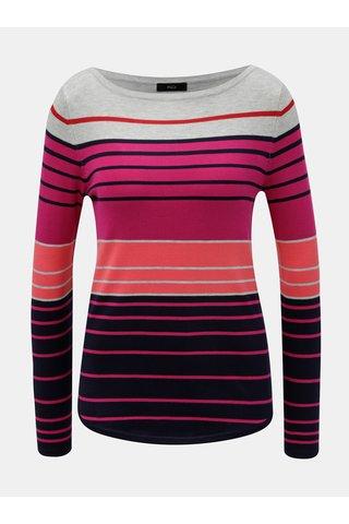 Modro-růžový pruhovaný lehký svetr M&Co
