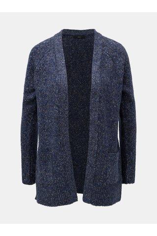 Cardigan albastru melanj cu buzunare M&Co