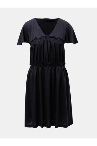 Modré šaty s véčkovým výstřihem French Connection