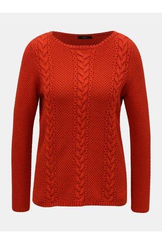 Červený svetr s dlouhým rukávem M&Co