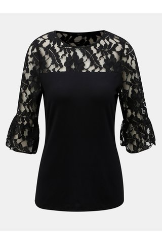 Bluza neagra cu dantela M&Co
