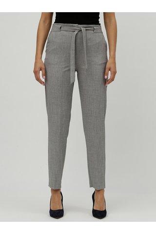 Pantaloni gri melanj cu talie inalta M&Co
