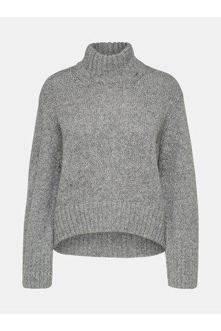 Helanca gri oversize cu amestec de lana Selected Femme