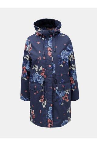 Jacheta parka albastra florala M&Co