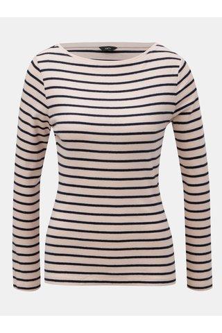 Modro-růžové pruhované tričko s dlouhým rukávem M&Co