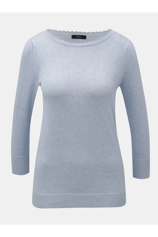 Světle modrý lehký svetr s 3/4 rukávem M&Co
