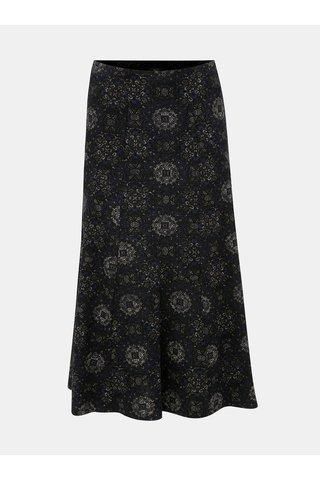 Černá vzorovaná manšestrová midi sukně M&Co