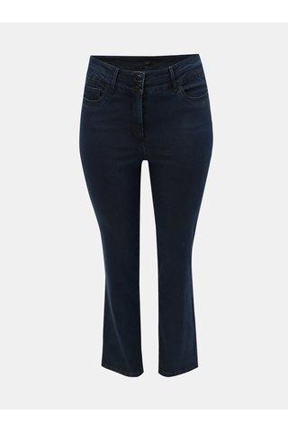 Tmavě modré straight džíny s vysokým pasem M&Co Plus