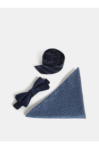 Set de cravata, jazzbow si batista albastru inchis Jack & Jones Necktie