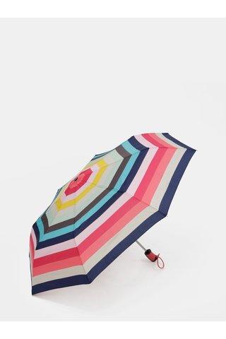 Umbrela telescopica albastru-roz in dungi Esprit Candystripe