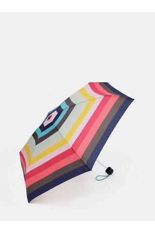 Umbrela pliabila roz-verde in dungi Esprit Candystripe