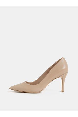 Pantofi bej din piele ALDO Coroniti