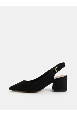 Sandale negre cu aspect de piele intoarsa ALDO Gauclya
