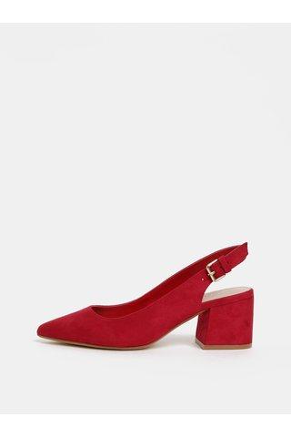 Sandale rosii cu aspect de piele intoarsa ALDO Gauclya