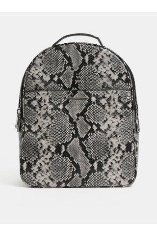 Krémovo-černý vzorovaný koženkový batoh ALDO