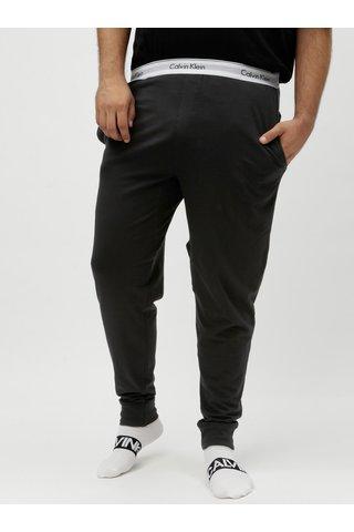 Černé pásnké pyžamové kalhoty Calvin Klein Underwear