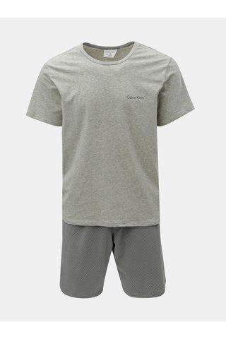 Šedé pánské dvoudílné pyžamo s obalem Calvin Klein Underwear
