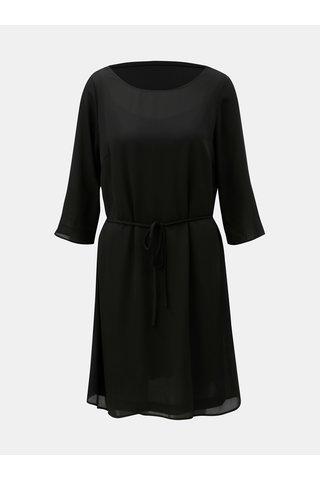 Černé šaty s krajkou a páskem VILA Lucy
