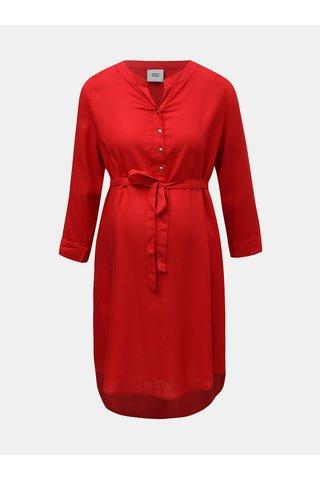 Bluza rosie mai lunga pentru femei insarcinate Mama.licious Mercy