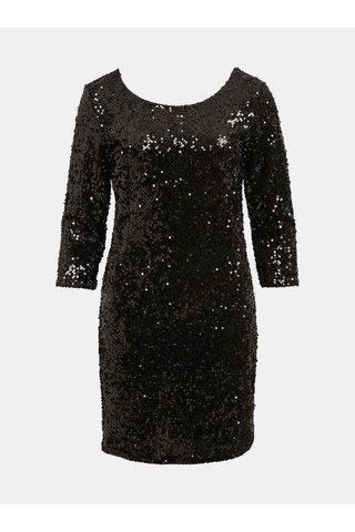 Černé šaty s flitry VILA Glitz