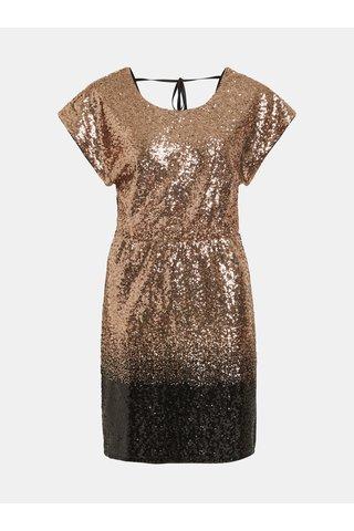 Rochie cu paiete negru-auriu VILA Elvia