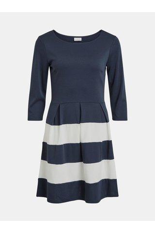 Bílo-modré vzorované šaty VILA Tinny