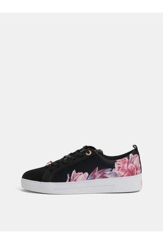 Adidasi de dama roz-negru floral Ted Baker