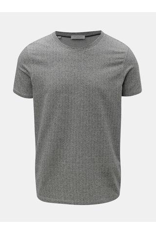 Šedé tričko s krátkým rukávem Selected Homme Clinton