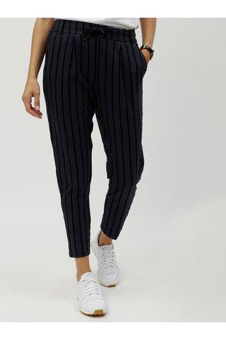 Pantaloni negru-albastru in dungi ONLY Poptrash
