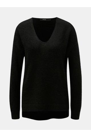 Černý svetr s příměsí mohéru a vlny VERO MODA Cuddle