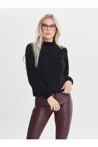Černý svetr se stojáčkem Jacqueline de Yong