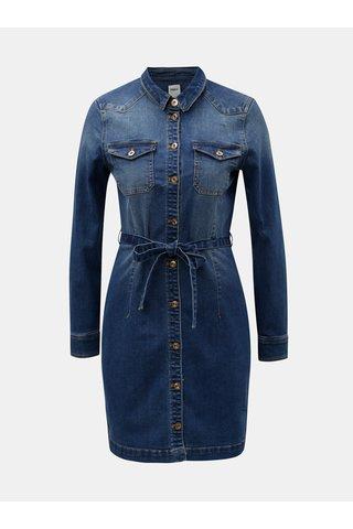 Modré džínové šaty ONLY