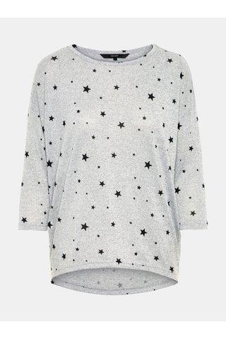 Šedý vzorovaný lehký svetr VERO MODA Snowy
