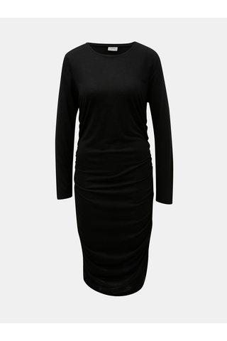 Černé šaty s řasením na bocích Jacqueline de Yong