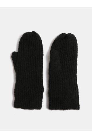 Manusi negre cu un deget si amestec de lana ONLY Tessie